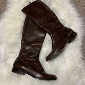 Cole Haan brown leather knee high boots size 9